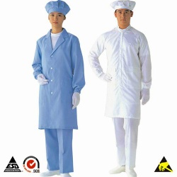 5mm Stripe Antistatic Smocks Clothing for Cleanroom Personal ESD Control Safety & Protection - 001.001.001.01.00001