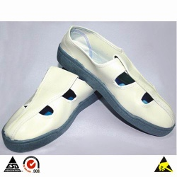 ESD Butterfly Face PVC Conductive Shoes for Cleanroom Safety Use & Personnel Antistatic Protection - 003.001.001.01.00031