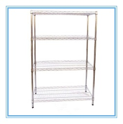 4 layers chrome plated wire display rack - Hot-K29