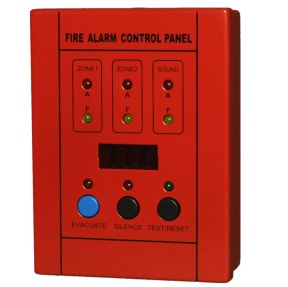2 Zones Mini Conventional Fire Alarm Control Master Panel - 1002S