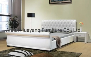 Upholstered PU Leather King Size Bed - JHY1
