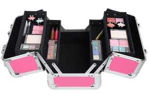 Makeup Organizer Aluminum Makeup Handle Cosmetic Case/Aluminum Artist Cosmetic Beauty Makeup Train Case - IC-5028