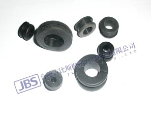 Molded rubber cable grommet for wiring harness