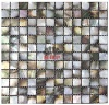 black mother of pearl mosaic tile interior wall - MOP8