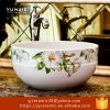 Jingdezhen China high quality antique famille rose ceramic counter tops basin bule and white painting vessel sink - S-1