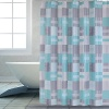 Shower Curtain PEVA Blue Square - 70X72 72X72