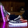2016 Fashion PU leather USB LED light luminous shoes - X10