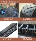 Long Operating Life Widely Used Nylon and Polyester  Rubber Conveyor Belt Price with Full Service(prodfessional factory)