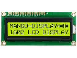1602 lcd display yellow green, outline:80*36*13mm - MD1602A yellow green