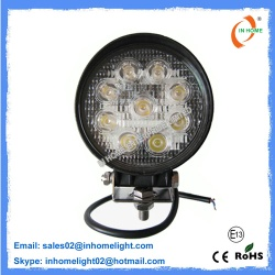 27W IP67 Round Led Work Lights Aluminum 10V-30V Mining Lights - IH-Y9-27W-R