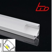 45 degree anodized aluminum led profile for led strip - LW-AC3