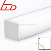 corner led profile with square light diffuser - LW-AC4