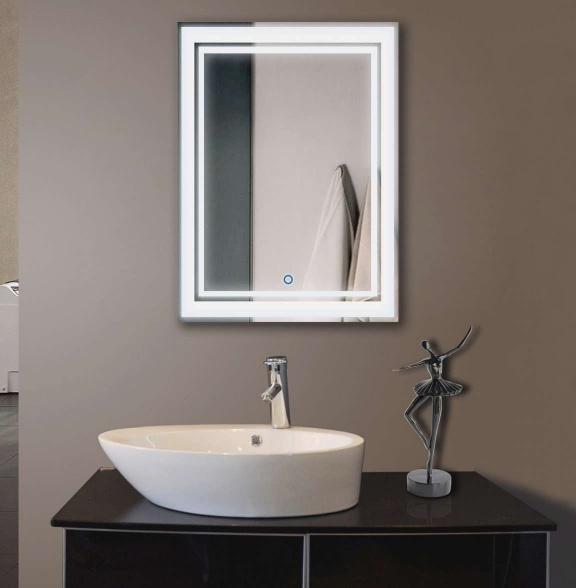 Touch Dimmable Bathroom Vanity Hotel Wall Mounted LED Lighted mirror - Lighted Mirror