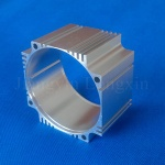 Aluminium profile for motor shell with sliver anodizing and machining - 3