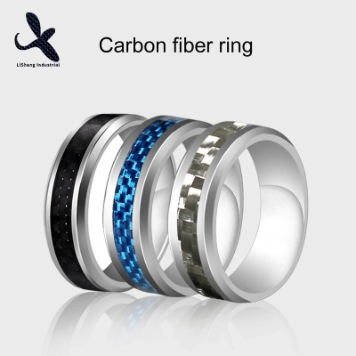 Stainless Steel Carbon Fiber Rings OEM - LS006