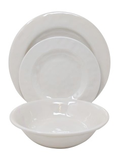 Plastic white plastic dinner plates melamine dark grey rustic dinnerware set made in China - https://www.alibaba.