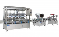 Automated Filling Capping Labeling Production Line - FG-585S + CS-415S