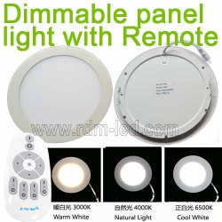 Color change and dimmable round  led panel light with Remote - RDMMB-3