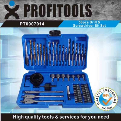 56pcs drill and srewdriver bit set - PT0907014