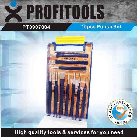 10pcs High quality  Punch Set  in a Plastic Shelf - PT0907004