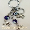 turkish evil eye metal keychain jewelry