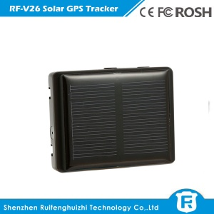 reachfar rf-v26 smallest mini solar powered gps tracker for cow/sheep with sos alarm, two way voice - RF-V26