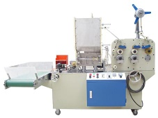 Drinking straw extruding making bending packing wrapping machine