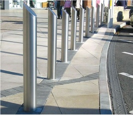 Fixed stainless steel bollard - RFB-SS-114