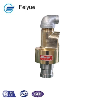 1/4 inch 2 passages copper air rotating unions coolant system rotary joint for water - Feiyue Rotary Joint
