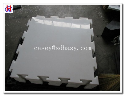UHMPWE plastic white synthetic ice rink panel - HA-ice rink