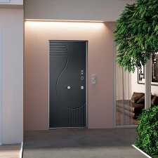 Security Door with FingerPrint Opening System - Opentech single leaf