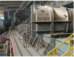 Eco-friendly energy saving horizontal and continuous charging scrap preheating arc furnace