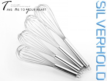 8 Line 201# Durable Stainless Steel Egg Whisks - SW03