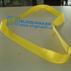 High quality endless Polyester webbing sling lifting belt synthetic lifting sling lifting band hebeband - slingmaker
