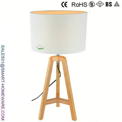 Nordic modern rubber wood table lamp - SH0022