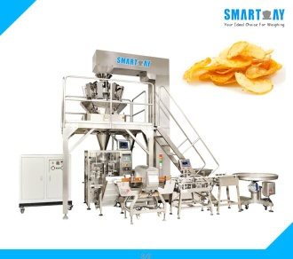 Smart Weigh Automatic Snacks Chips Packing Machine Line With Multihead Weigher - SW-PL1