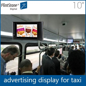 Flintstone 10inch vehicle advertising signage,advertising signage,lcd display for bus