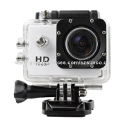 Action Video Full HD 1,080P 12MP 30-meter Waterproof Sports Camera with 1.5-inch HD Screen