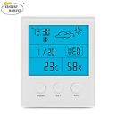 Digital Hygrometer Indoor Thermometer Humidity Gauge with Backlight Temperature Humidity Weather Time Monitor - CH-904