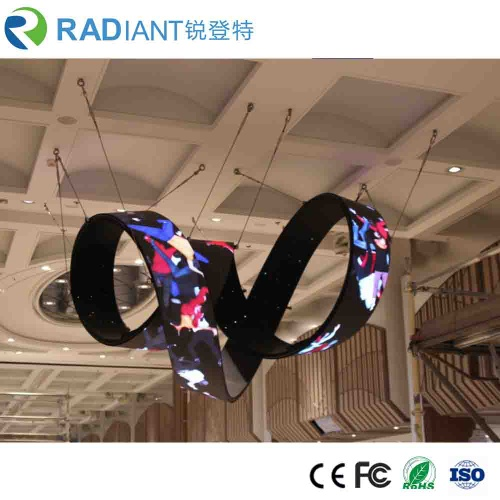 Radiant curved waved shaped soft full color HD flexible P6 indoor LED display - NF060F
