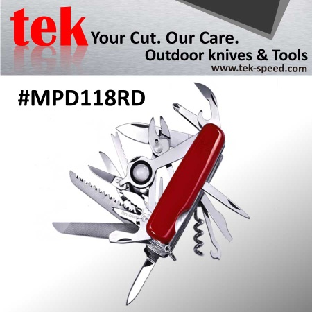 multi swiss military tool knife of camping supplies - MPD118RD