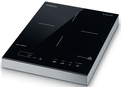 Portable induction cooker with stainless steel frame