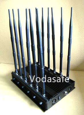 WiFi / 4G Jammers, UHF/VHF Jammers, 2g+3G+Remote Control Audio jammer - CPJ-X12