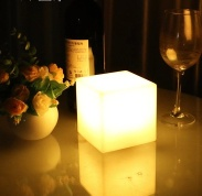 10Cm Color Changing Squares LED Table Lamp - Rechargeable - WL-ML-003