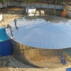 Potable sectional water tank made of stainless steel