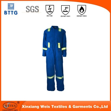 100% cotton fire resistant workwear coverall PPE for welding industry - ysetex-004