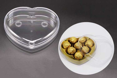 Weisheng Heart-Shaped Chocolate Box Food Plastic Case - WS-7-C01