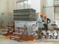 Sand mold low pressure casting machine - J450