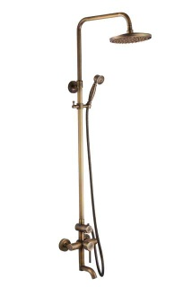 Antique brass rain shower faucets - SC-2100w-3117a