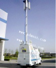 CCTV Telescopic Mast And 8m Vertical mounted Telescopic Tower And PTZ Tower - CCTV Telescopic Mast